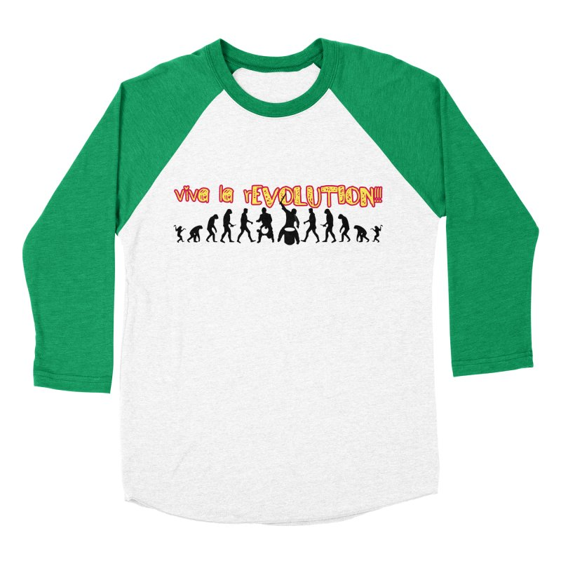 Viva la rEVOLUTION! Men's Baseball Triblend Longsleeve T-Shirt by DJEMBEFOLEY Shop