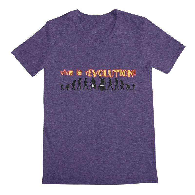 Viva la rEVOLUTION! Men's Regular V-Neck by DJEMBEFOLEY Shop