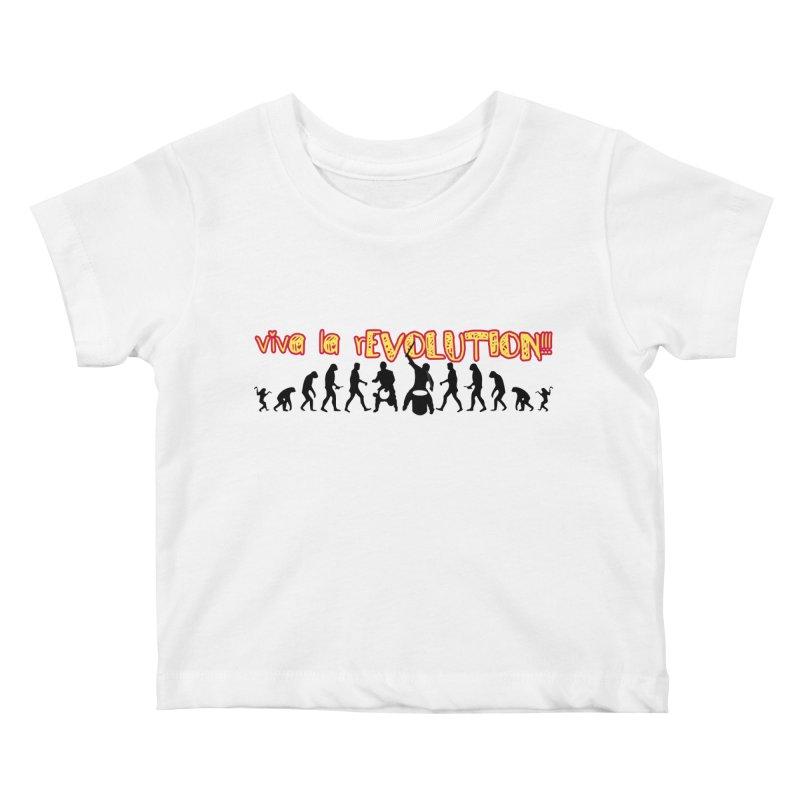 Viva la rEVOLUTION! Kids Baby T-Shirt by DJEMBEFOLEY Shop