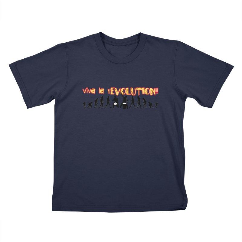 Viva la rEVOLUTION! Kids T-Shirt by DJEMBEFOLEY Shop
