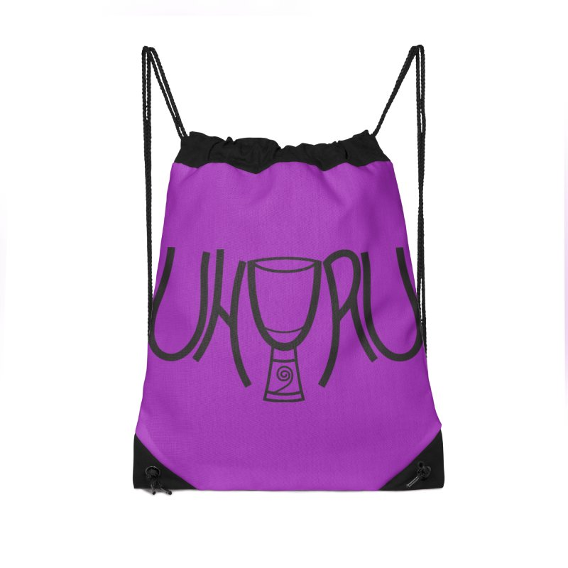 Uhuru Accessories Drawstring Bag Bag by DJEMBEFOLEY Shop