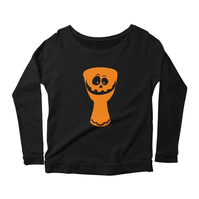 "LIMITED EDITION!  ""DJEMB-O-LANTERN"" Women's Scoop Neck Longsleeve T-Shirt by DJEMBEFOLEY Shop"