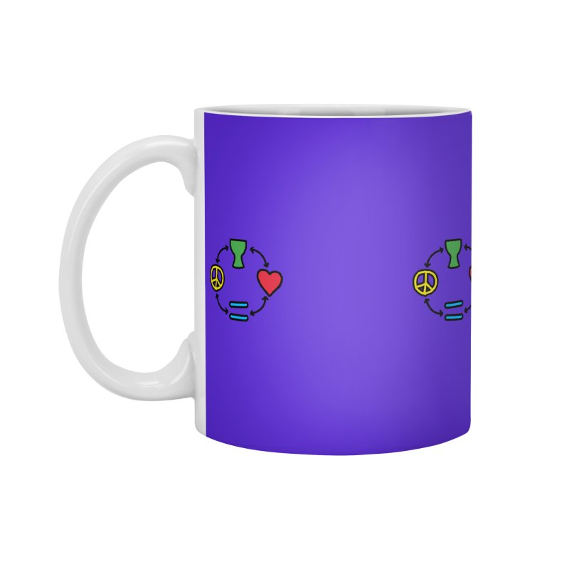 Djembe: Peace, Love, Equality Accessories Standard Mug by DJEMBEFOLEY Shop