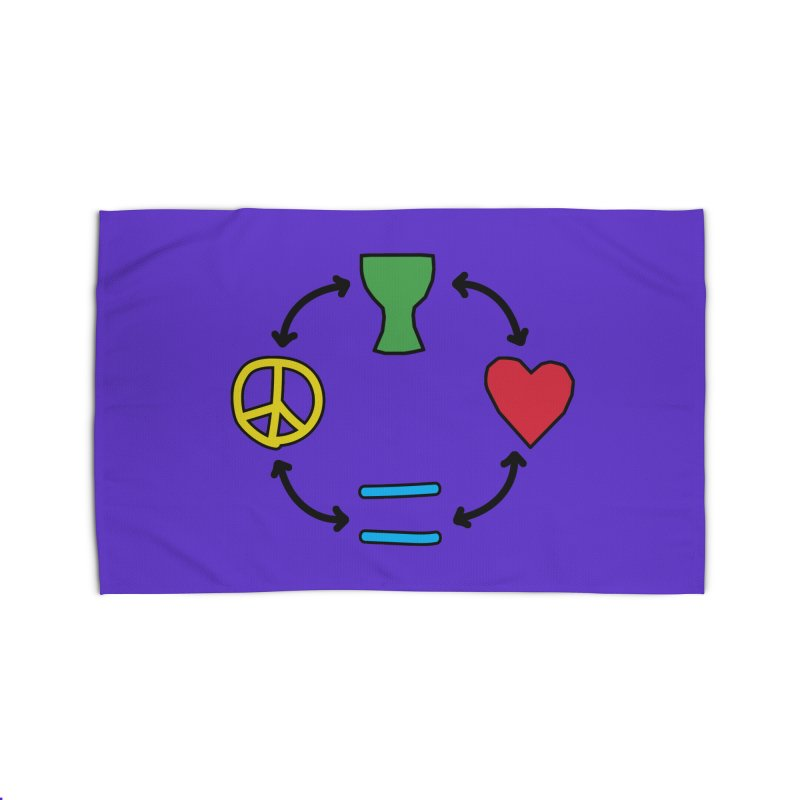 Djembe: Peace, Love, Equality Home Rug by DJEMBEFOLEY Shop
