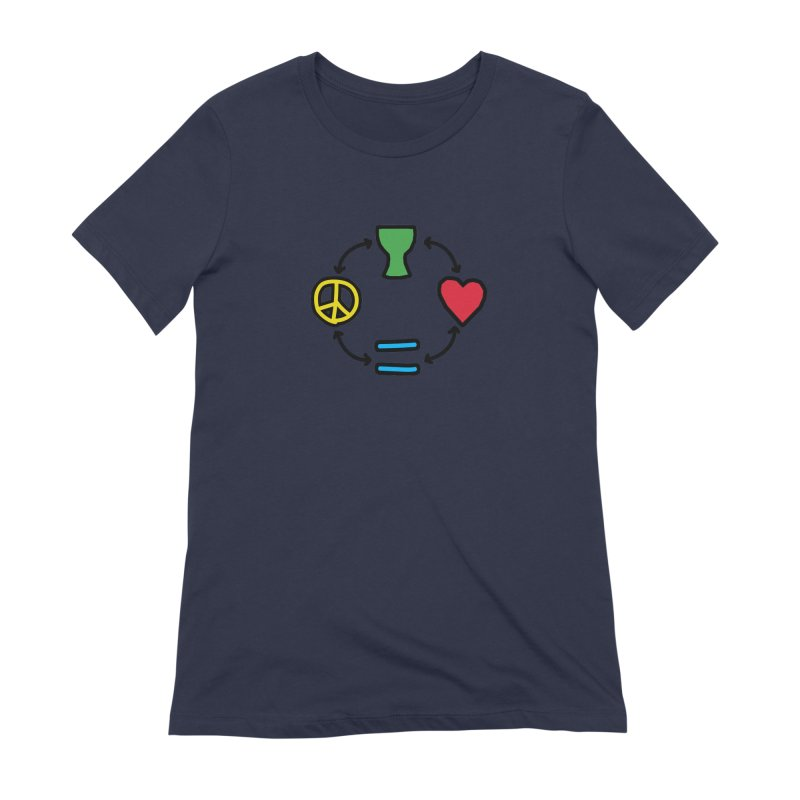 Djembe: Peace, Love, Equality Women's Extra Soft T-Shirt by DJEMBEFOLEY Shop