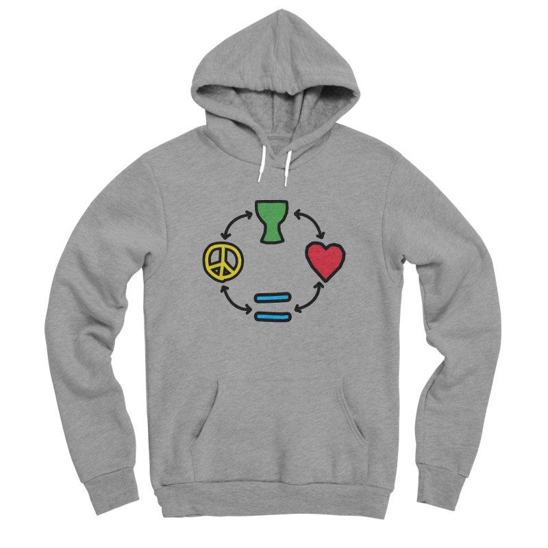 Djembe: Peace, Love, Equality Women's Sponge Fleece Pullover Hoody by DJEMBEFOLEY Shop
