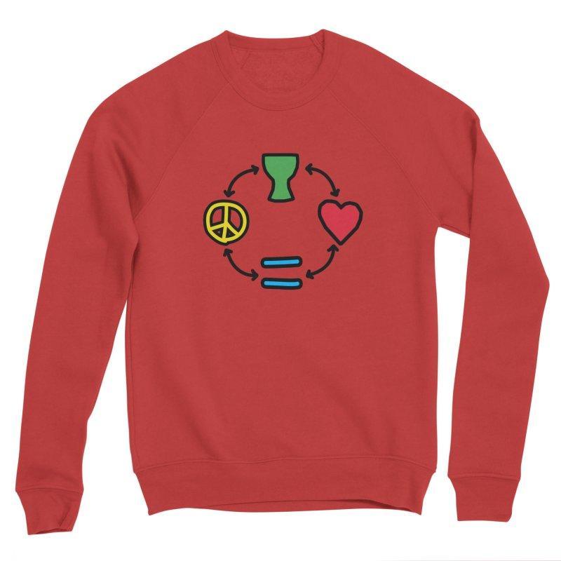 Djembe: Peace, Love, Equality Men's Sponge Fleece Sweatshirt by DJEMBEFOLEY Shop