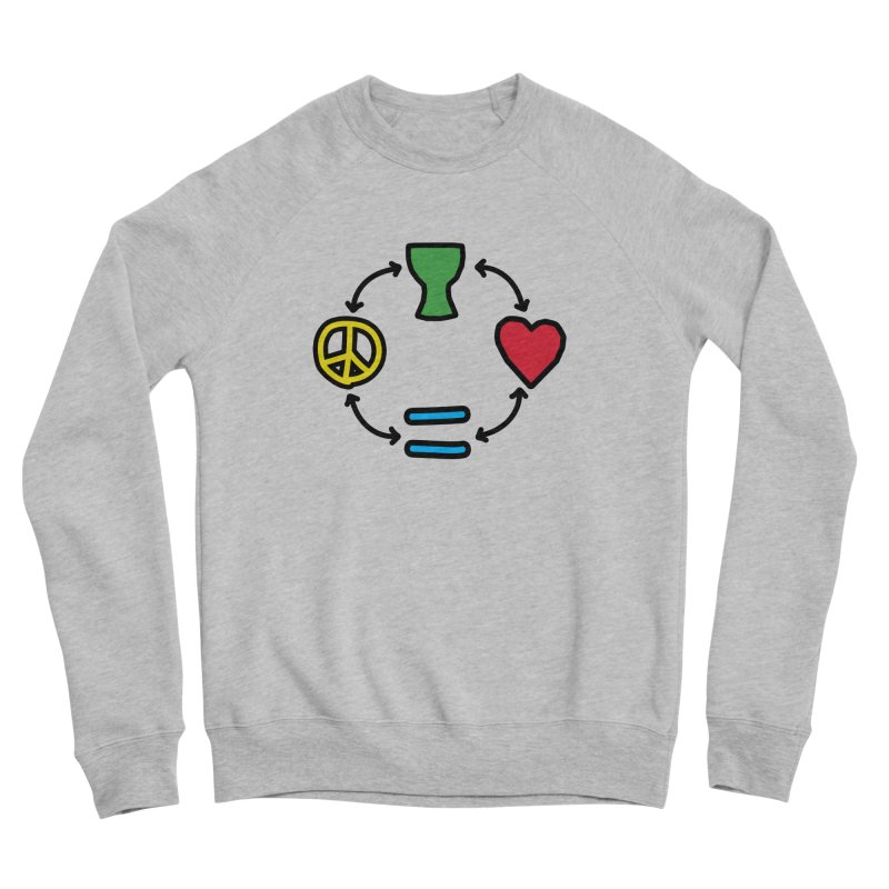 Djembe: Peace, Love, Equality Men's Sponge Fleece Sweatshirt by DJEMBEFOLEY Shop