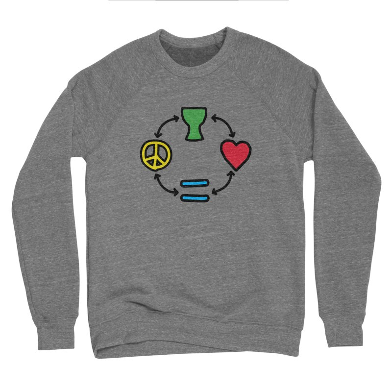 Djembe: Peace, Love, Equality Women's Sponge Fleece Sweatshirt by DJEMBEFOLEY Shop