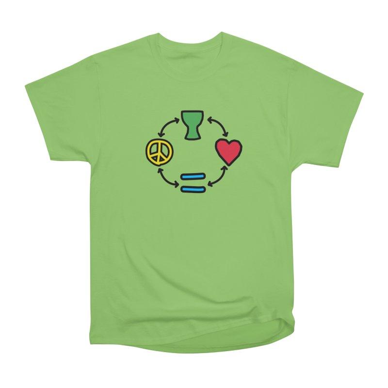 Djembe: Peace, Love, Equality Women's Heavyweight Unisex T-Shirt by DJEMBEFOLEY Shop