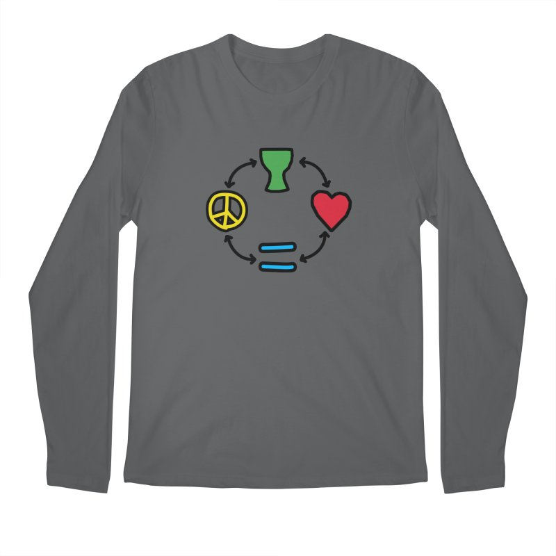 Djembe: Peace, Love, Equality Men's Longsleeve T-Shirt by DJEMBEFOLEY Shop