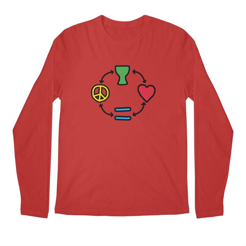 Djembe: Peace, Love, Equality Men's Regular Longsleeve T-Shirt by DJEMBEFOLEY Shop