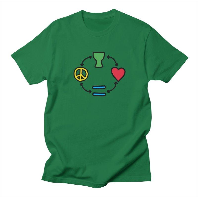 Djembe: Peace, Love, Equality Men's T-Shirt by DJEMBEFOLEY Shop