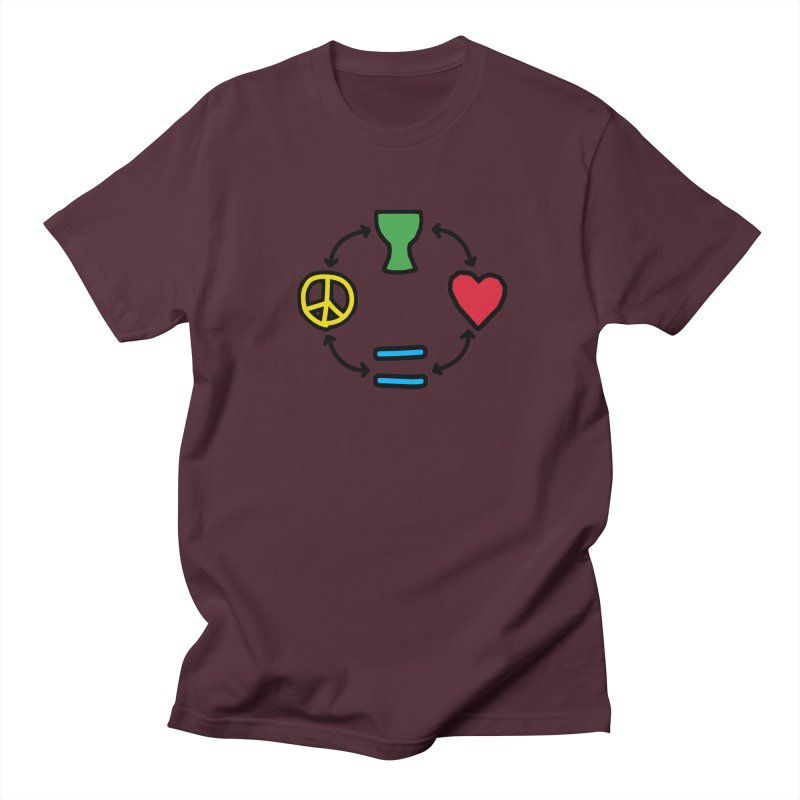Djembe: Peace, Love, Equality Men's T-Shirt by DJEMBEFOLEY Shop