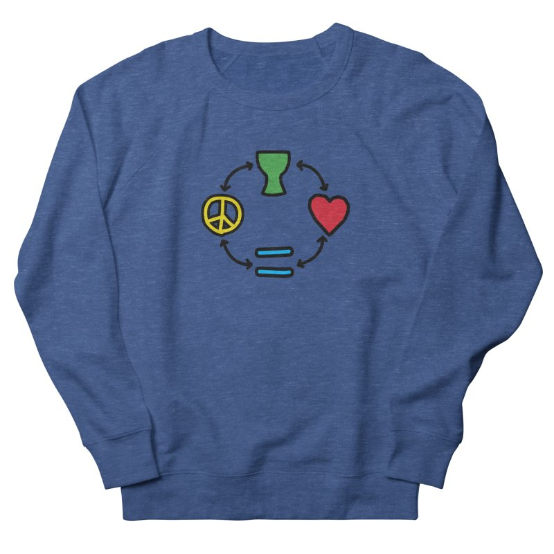 Djembe: Peace, Love, Equality Men's Sweatshirt by DJEMBEFOLEY Shop