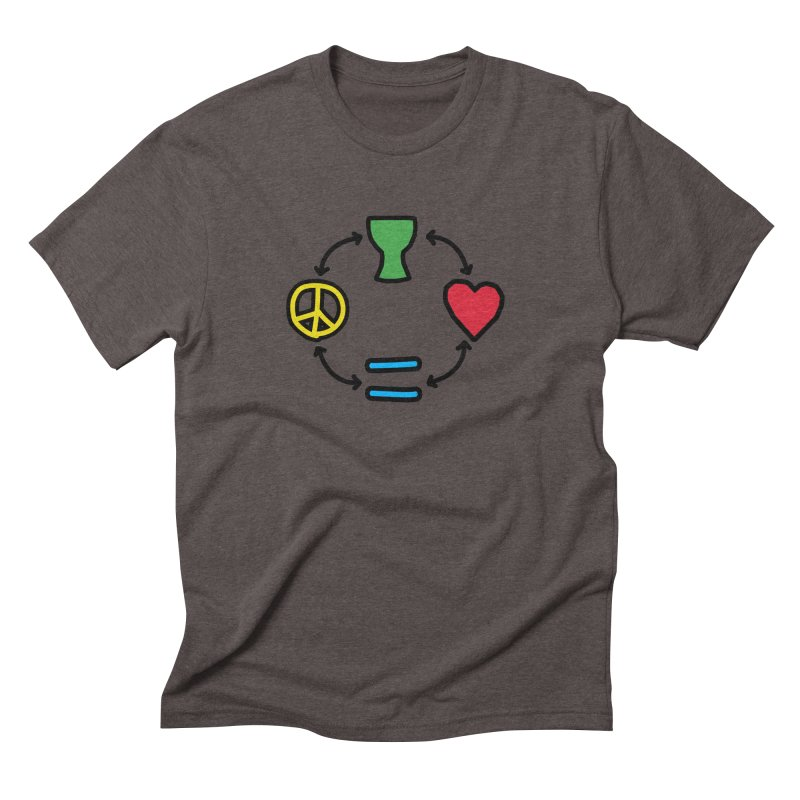 Djembe: Peace, Love, Equality Men's Triblend T-Shirt by DJEMBEFOLEY Shop