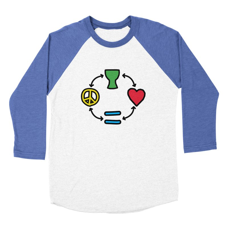 Djembe: Peace, Love, Equality Women's Baseball Triblend Longsleeve T-Shirt by DJEMBEFOLEY Shop