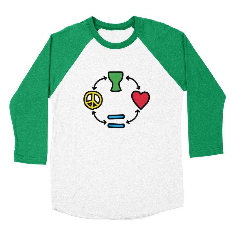 Djembe: Peace, Love, Equality Men's Baseball Triblend Longsleeve T-Shirt by DJEMBEFOLEY Shop