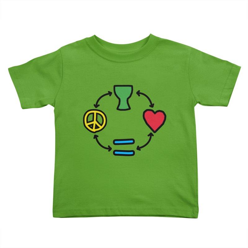 Djembe: Peace, Love, Equality Kids Toddler T-Shirt by DJEMBEFOLEY Shop