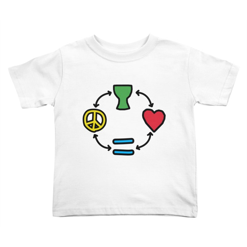 Djembe: Peace, Love, Equality Kids Toddler T-Shirt by DJEMBEFOLEY Shop