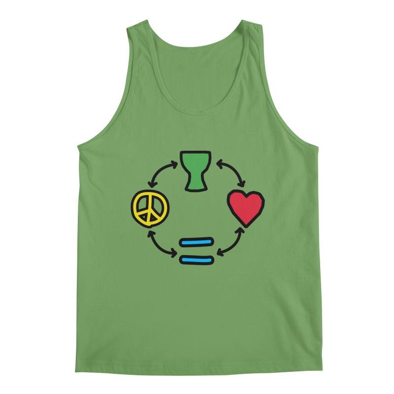 Djembe: Peace, Love, Equality Men's Tank by DJEMBEFOLEY Shop