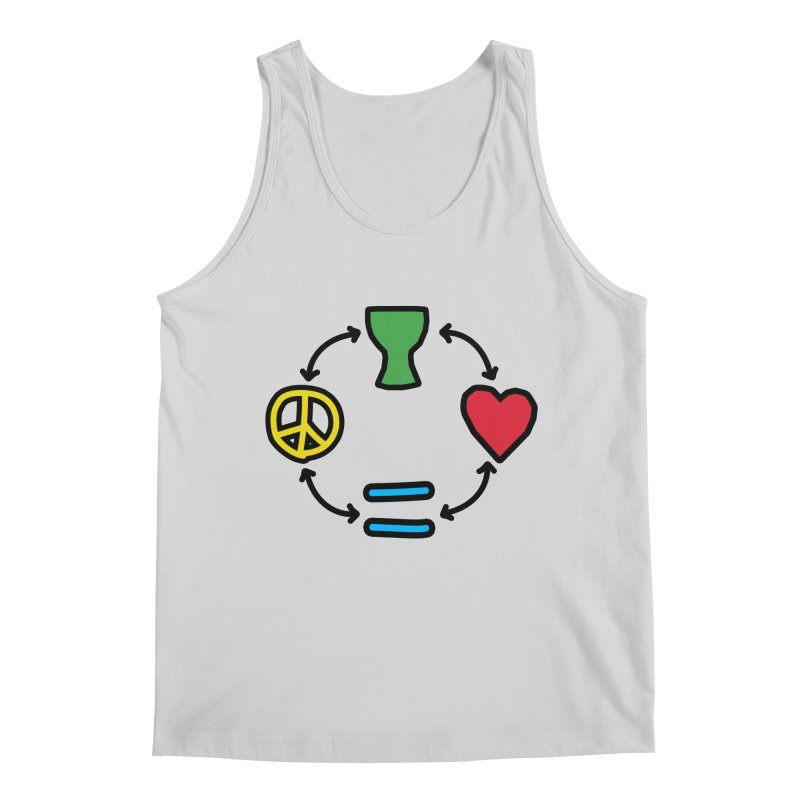 Djembe: Peace, Love, Equality Men's Regular Tank by DJEMBEFOLEY Shop