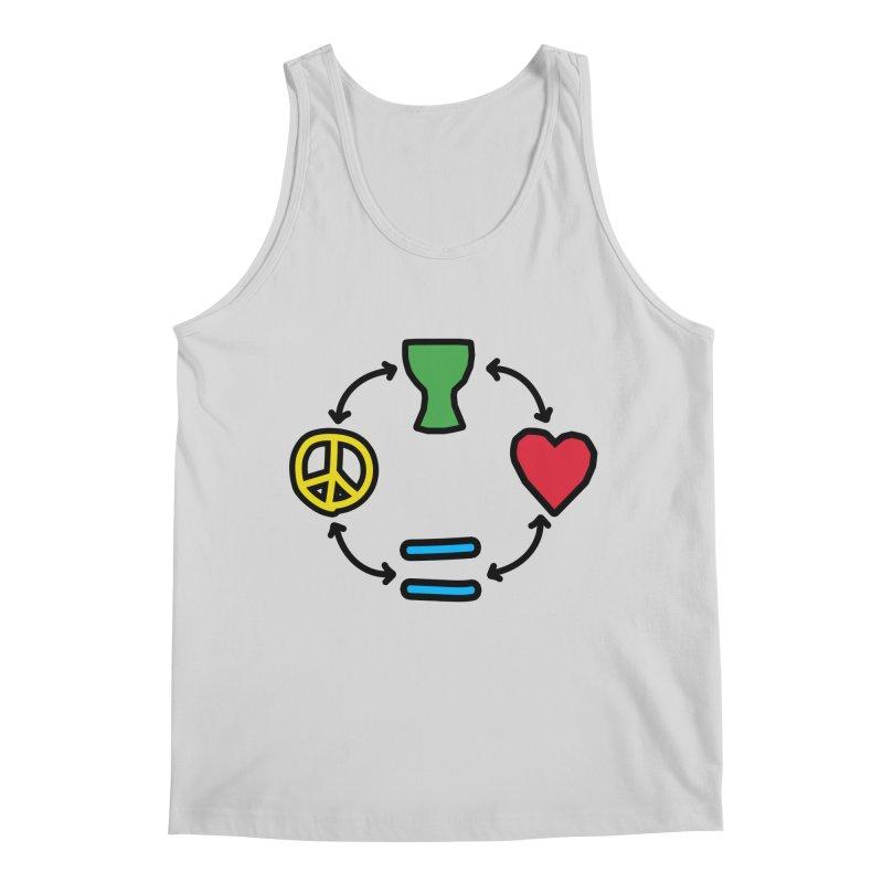 Djembe: Peace, Love, Equality Men's Regular Tank by DJEMBEFOLEY Shop