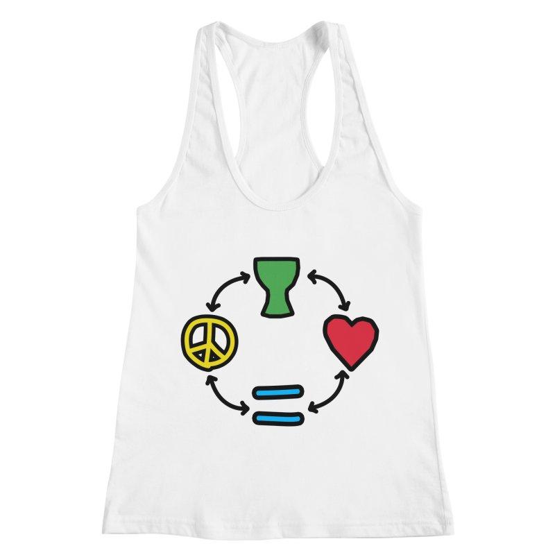 Djembe: Peace, Love, Equality Women's Tank by DJEMBEFOLEY Shop