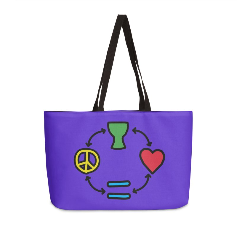 Djembe: Peace, Love, Equality Accessories Weekender Bag Bag by DJEMBEFOLEY Shop