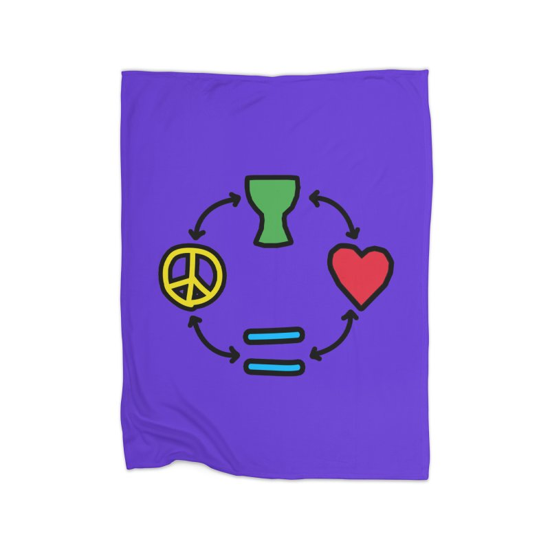 Djembe: Peace, Love, Equality Home Blanket by DJEMBEFOLEY Shop