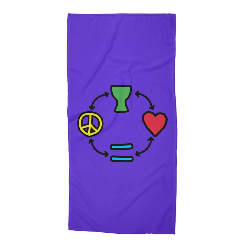 Djembe: Peace, Love, Equality Accessories Beach Towel by DJEMBEFOLEY Shop