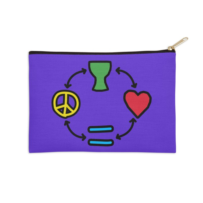 Djembe: Peace, Love, Equality Accessories Zip Pouch by DJEMBEFOLEY Shop