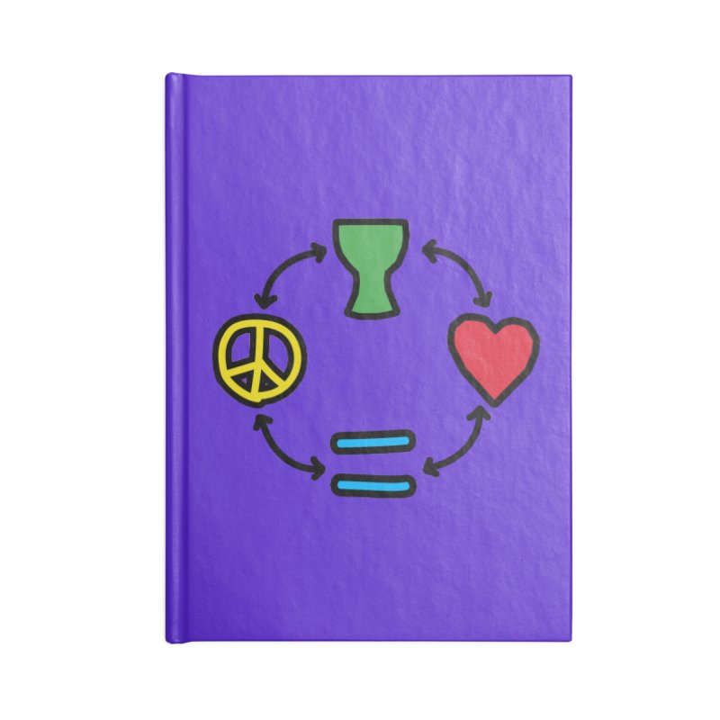 Djembe: Peace, Love, Equality Accessories Lined Journal Notebook by DJEMBEFOLEY Shop
