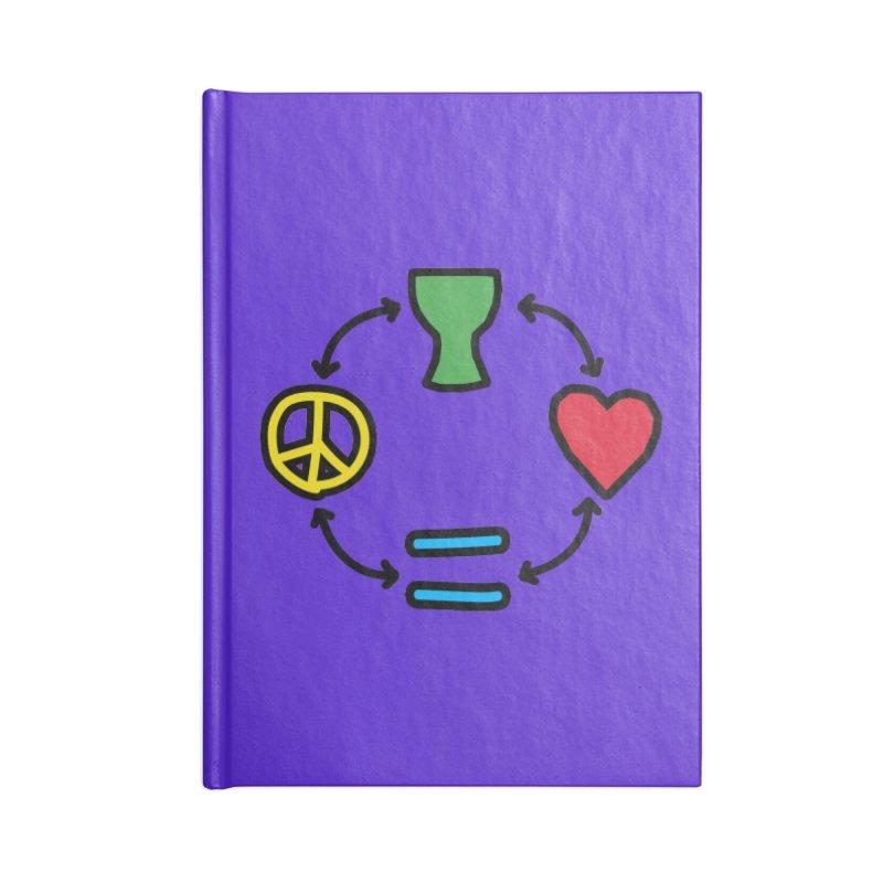 Djembe: Peace, Love, Equality Accessories Blank Journal Notebook by DJEMBEFOLEY Shop
