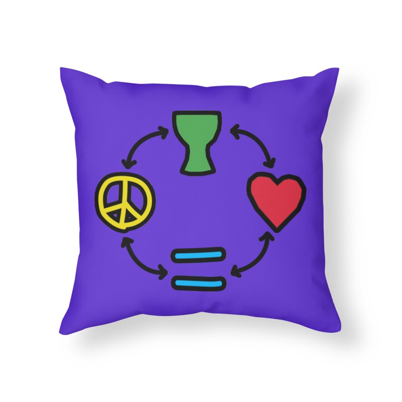Djembe: Peace, Love, Equality Home Throw Pillow by DJEMBEFOLEY Shop