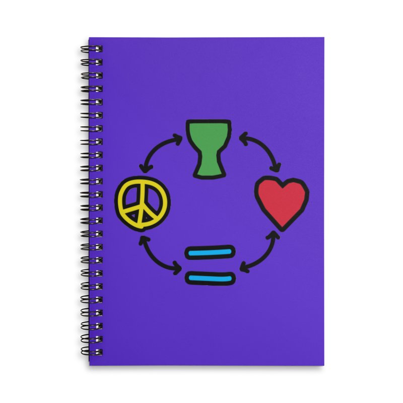Djembe: Peace, Love, Equality Accessories Lined Spiral Notebook by DJEMBEFOLEY Shop