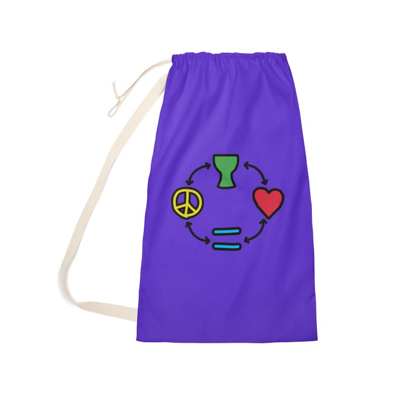 Djembe: Peace, Love, Equality Accessories Laundry Bag Bag by DJEMBEFOLEY Shop