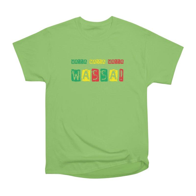 Wassa Wassa! Women's Heavyweight Unisex T-Shirt by DJEMBEFOLEY Shop