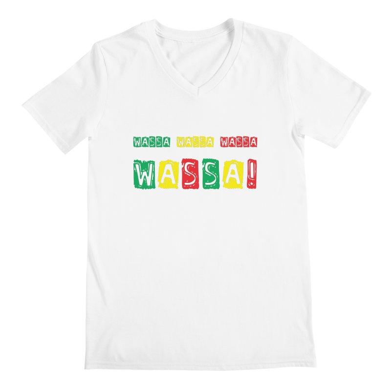 Wassa Wassa! Men's Regular V-Neck by DJEMBEFOLEY Shop