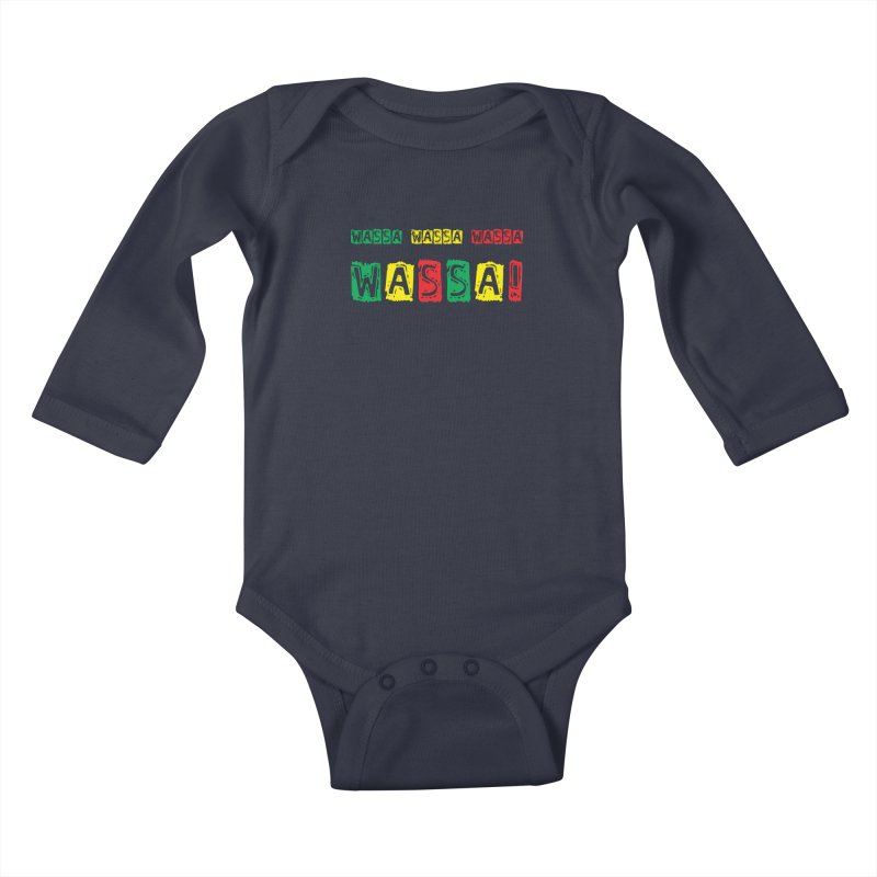Wassa Wassa! Kids Baby Longsleeve Bodysuit by DJEMBEFOLEY Shop