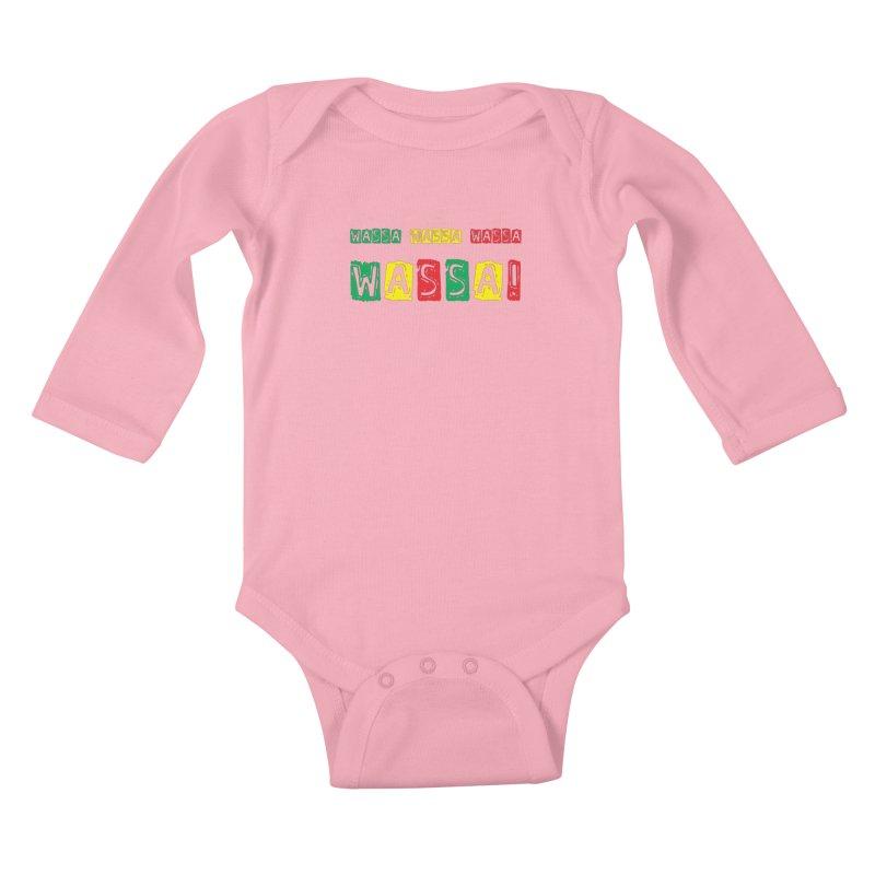 Wassa Wassa! Kids Baby Longsleeve Bodysuit by DJEMBEFOLEY Shop