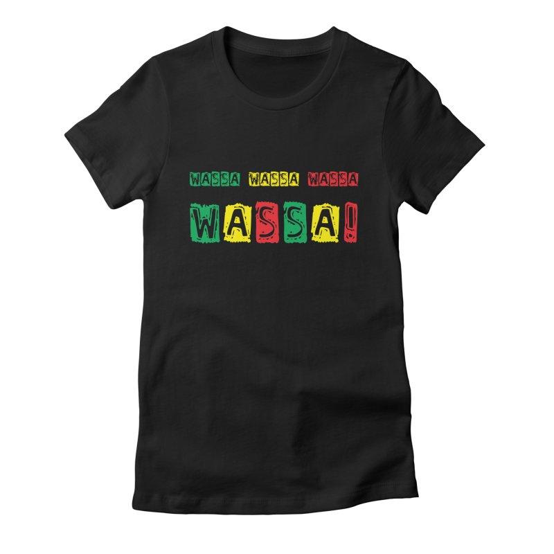 Wassa Wassa! Women's Fitted T-Shirt by DJEMBEFOLEY Shop