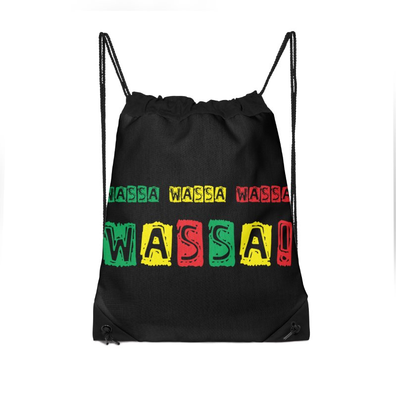 Wassa Wassa! Accessories Drawstring Bag Bag by DJEMBEFOLEY Shop