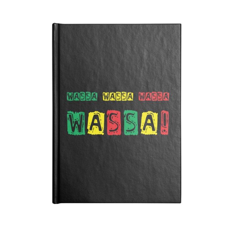 Wassa Wassa! Accessories Blank Journal Notebook by DJEMBEFOLEY Shop
