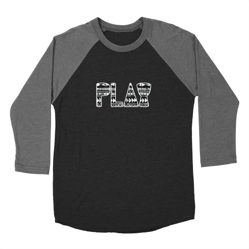 PLAY Women's Baseball Triblend Longsleeve T-Shirt by DJEMBEFOLEY Shop