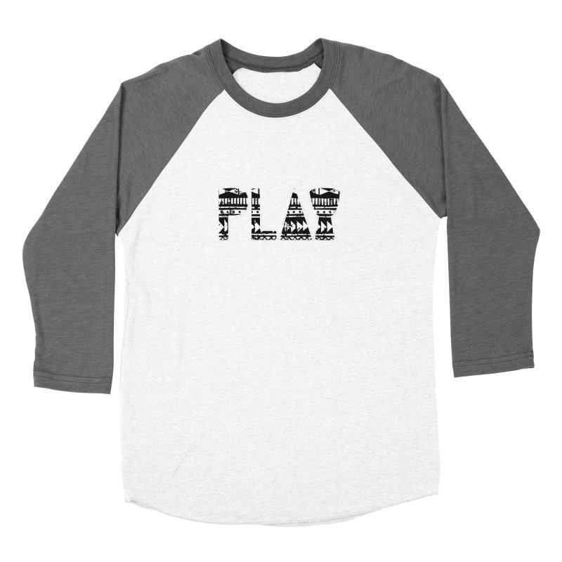 PLAY Men's Baseball Triblend Longsleeve T-Shirt by DJEMBEFOLEY Shop