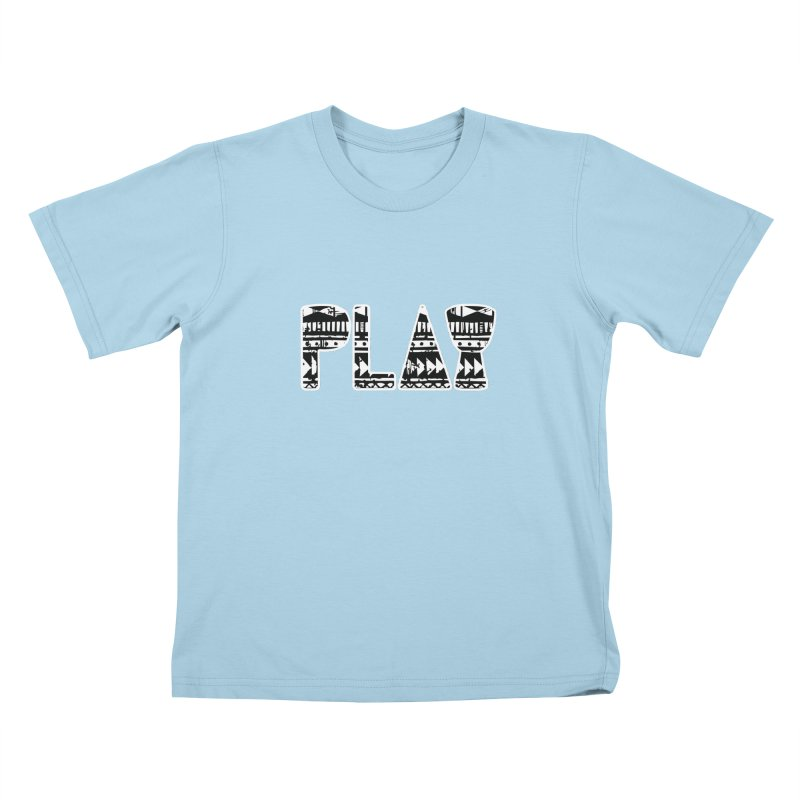 PLAY Kids T-Shirt by DJEMBEFOLEY Shop