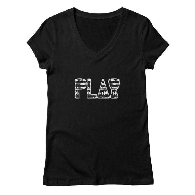 PLAY Women's V-Neck by DJEMBEFOLEY Shop