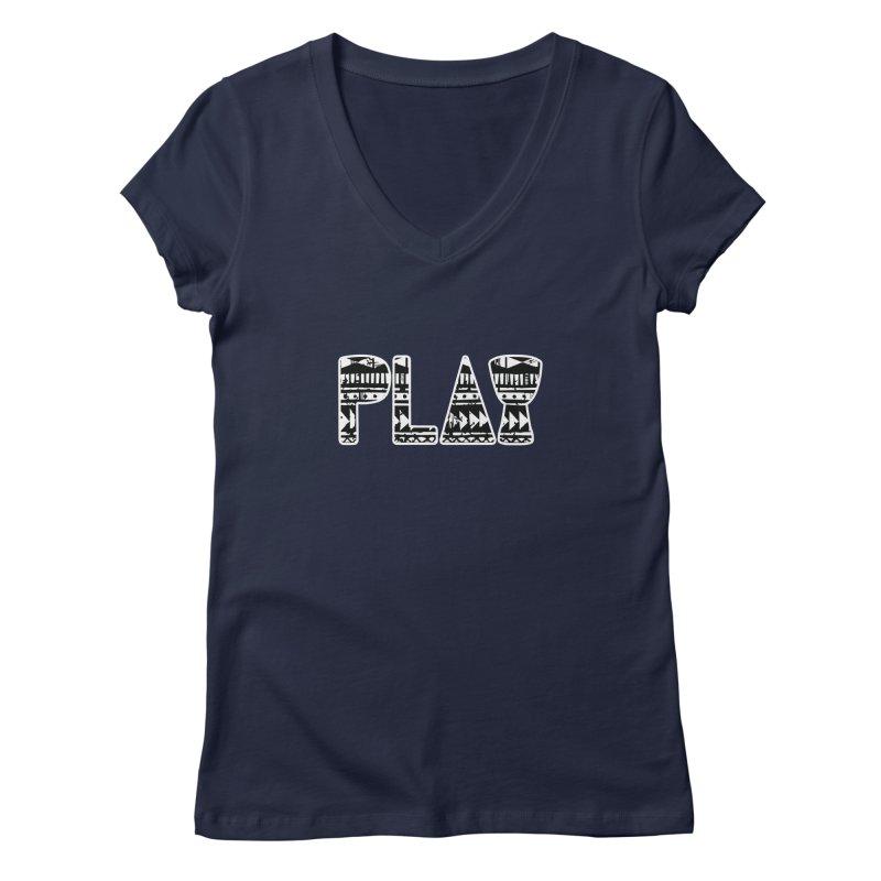 PLAY Women's Regular V-Neck by DJEMBEFOLEY Shop