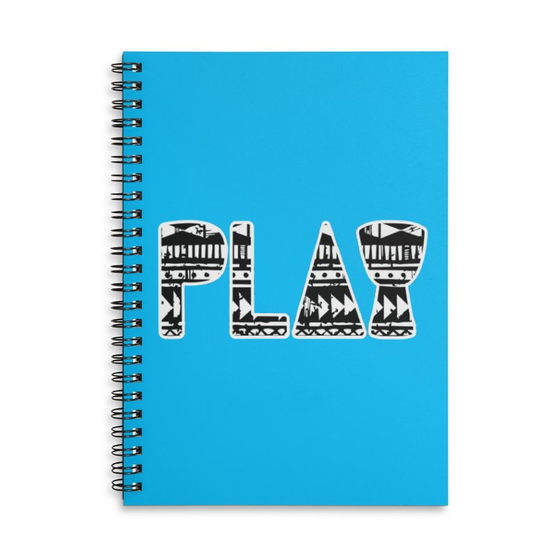 PLAY Accessories Lined Spiral Notebook by DJEMBEFOLEY Shop